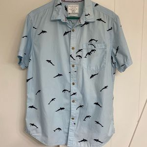 Cactus NY Travellers Collection Blue Dolphin Shirt